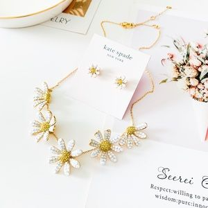 Kate Spade Crystal Daisy Statement Necklace